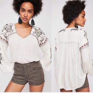 {Free People} NWT Rock it Tonight Peasant Blouse